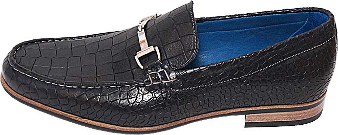 Обувь Nord Elite 4841/B294 син. туфли,лоферы питон