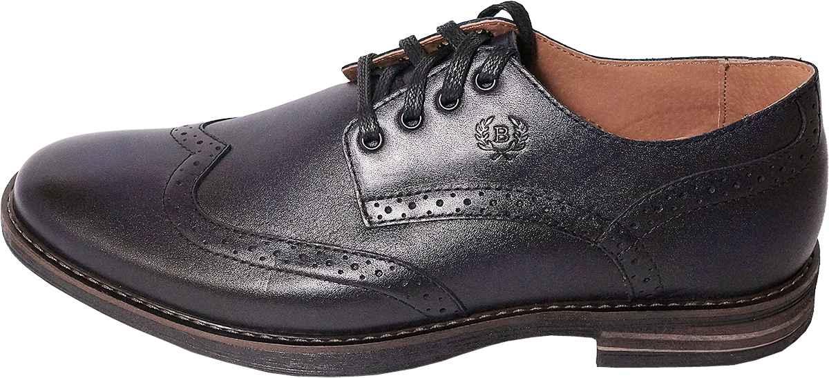 Обувь MooseShoes Brogue син. туфли