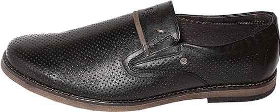 Обувь MooseShoes Model B Перфо черн. туфли больших размеров
