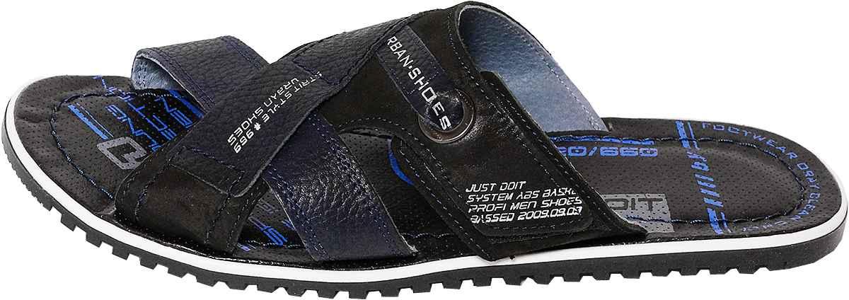 Обувь MooseShoes 356 син. шлёпанцы