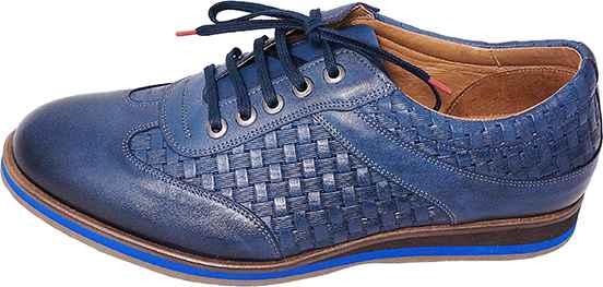 Обувь ShooBootique 612 син. туфли с текстурой