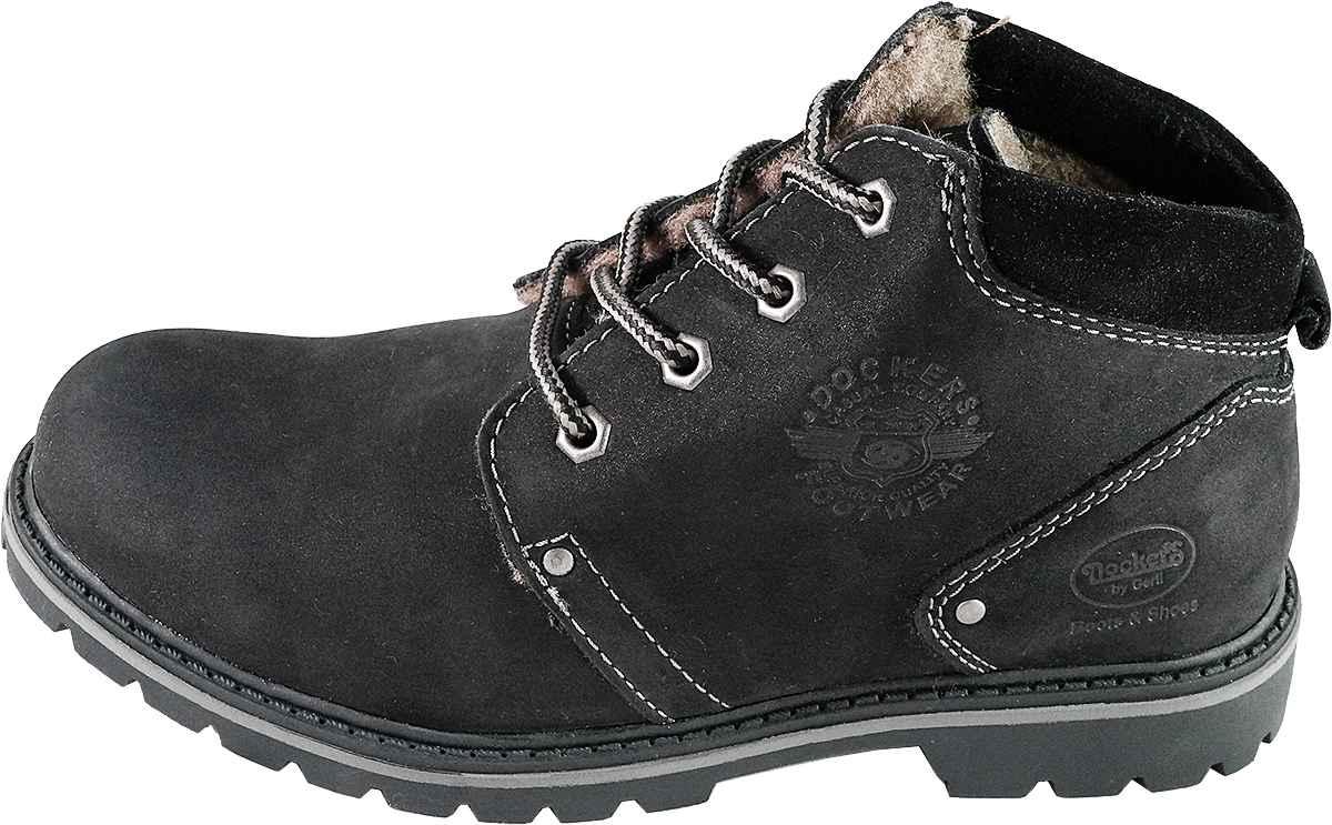 Обувь Dockers by Gerli 330501-003001 черн. ботинки больших размеров