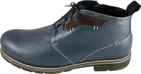 Обувь MooseShoes Макс 76 син. ботинки больших размеров