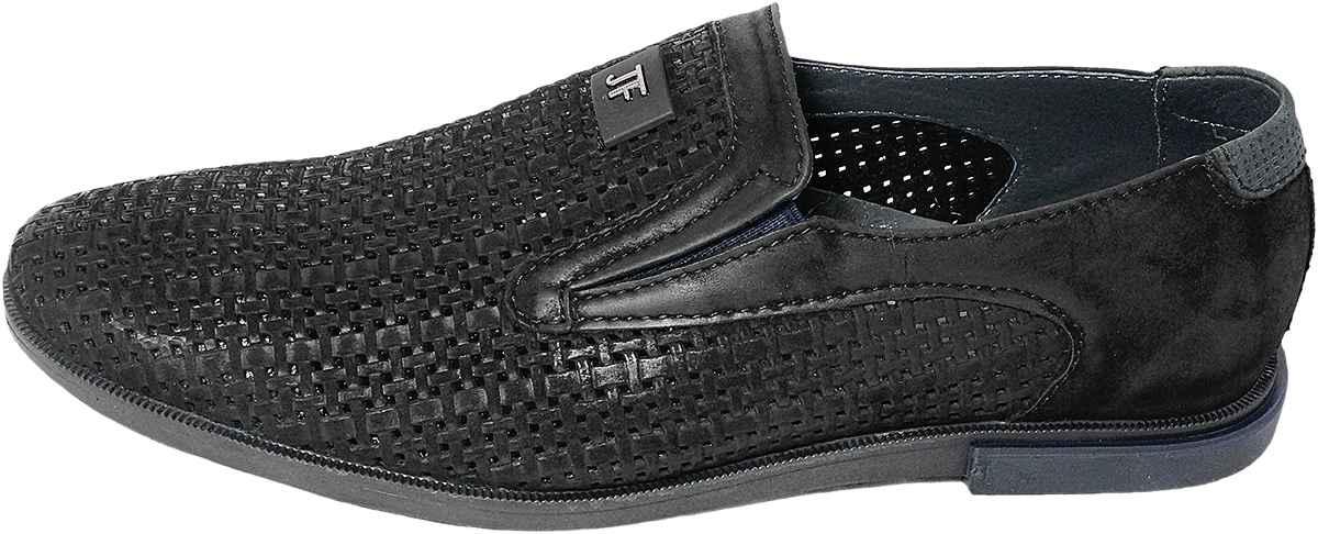 Обувь MooseShoes Перфо черн. туфли