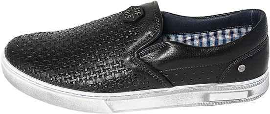Обувь MooseShoes JF 9|5 Перфо черн. кеды,слипоны лето