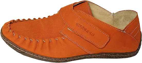 Обувь Kacper 1-0713-178 оранж. комфорты,мокасины лето
