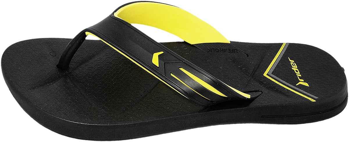 Обувь Rider 82026 20566 черн. + жёлт. шлёпанцы,флип-флопы