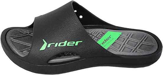 Обувь Rider 81901 24061 черн. зел. шлёпанцы больших размеров