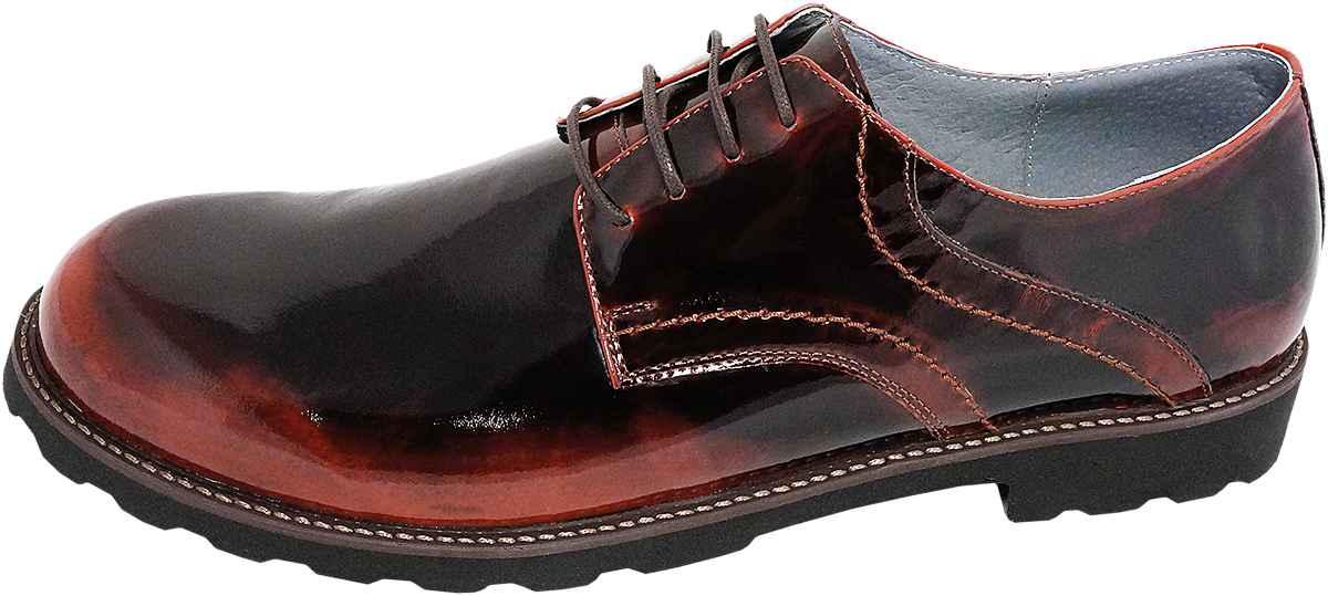 Обувь MooseShoes Moose Max черн. + красн. туфли,полуботинки больших размеров
