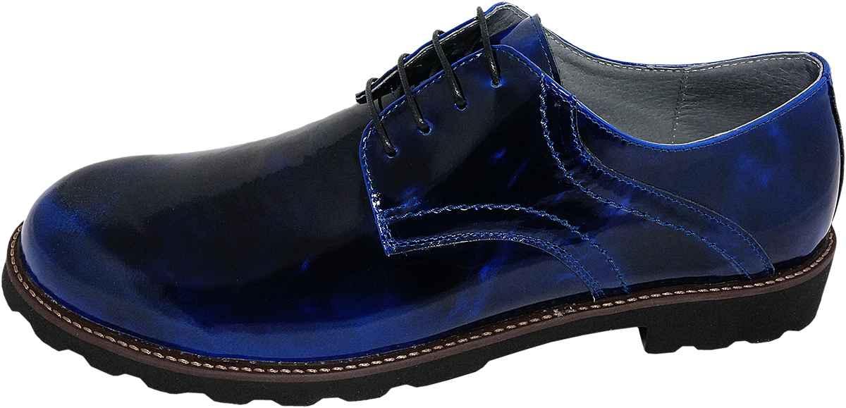 Обувь MooseShoes Moose Max черн. + син. туфли,полуботинки больших размеров