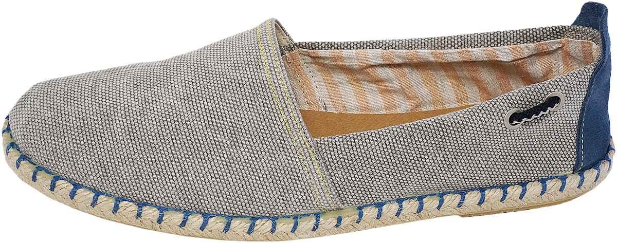 Обувь Dali 271-4-106-5-10 серые слипоны,эспадрильи
