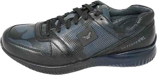 Обувь MooseShoes JF 485 черн. син. кроссовки межсезонье
